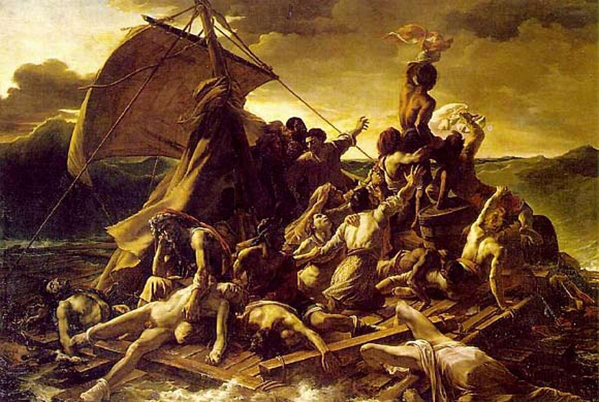 RAFT OF THE MEDUSA (in the Louvre) by Theodore Gericault 1818-1819