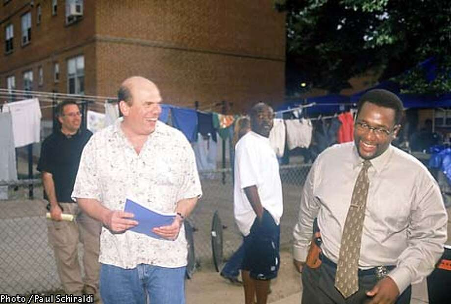 THE WIRE: David Simon, Wendell Pierce. photo: Paul Schiraldi  (HANDOUT PHOTO) Photo: HANDOUT