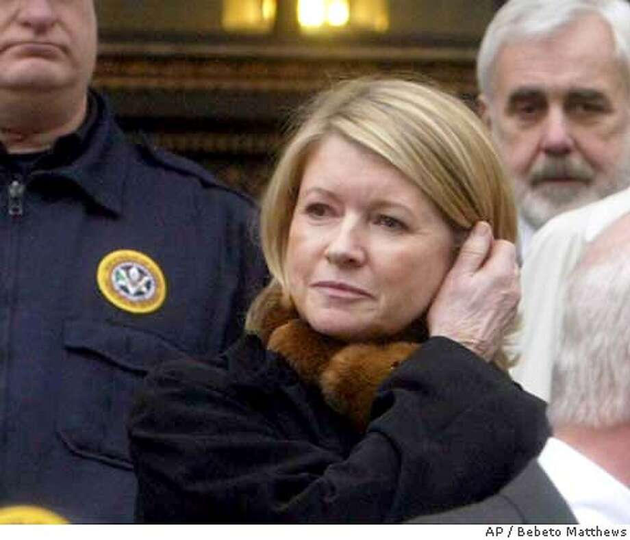 leaves Manhattan Federal Court after guilty verdicts in her federal stock fraud trial in New York, Friday March 5, 2004. (AP Photo/Bebeto Matthews) Photo: BEBETO MATTHEWS