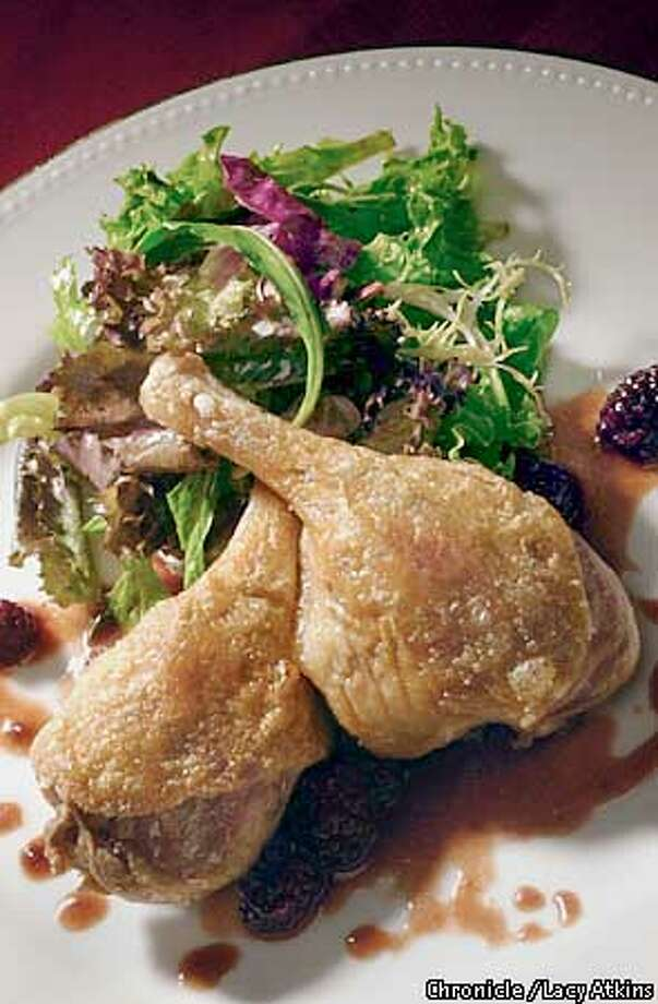 Crispy Duck Leg with Blackberries  SAN FRANCISCO CHRONICLE/LACY ATKINS Photo: LACY ATKINS