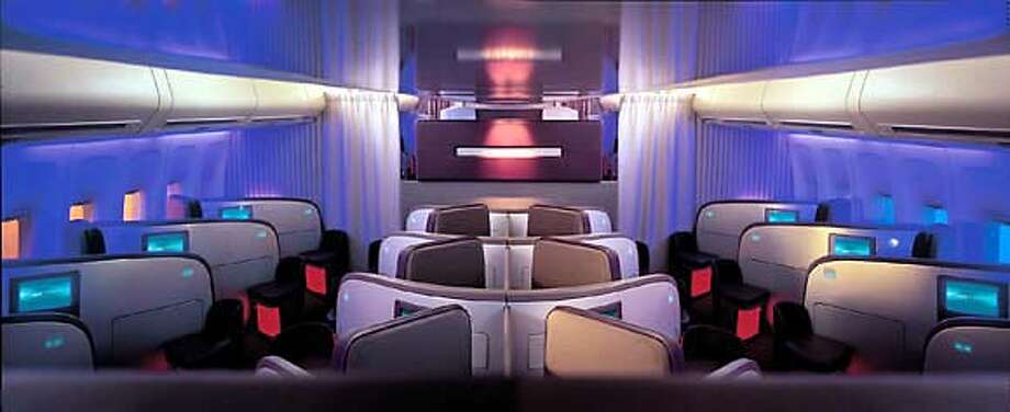 Virgin Atlantic is seeking to lure high-end business passengers with its Upper Class suite, pictured, and bar. Photo courtesy of Virgin Atlantic