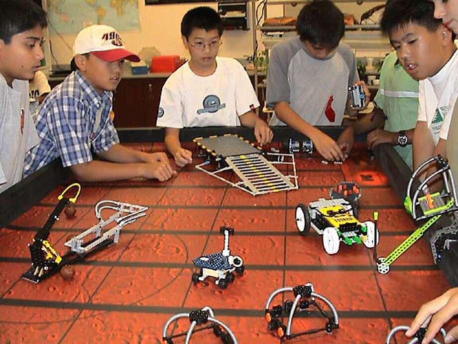 mars11_LEGO_Robots3.jpg / for: Sunday Datebook slug: mars11; mars exhibition at the exploratorium Exploratorium / HO