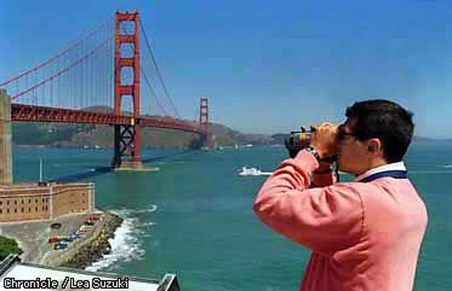 Filippo Renzi of Italy takes in the view of the Golden Gate Bridge. Photo By Lea Suzuki
