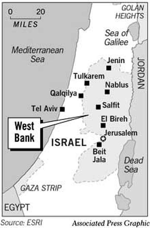 West Bank. Associated Press Graphic