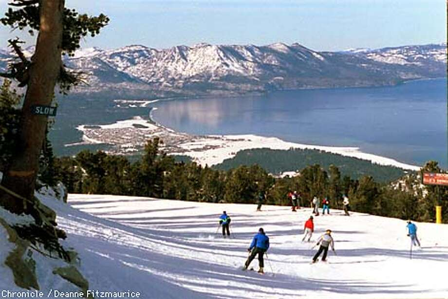 Heavenly Valley Ski Resort in South Lake Tahoe has a view of the lake. CHRONICLE PHOTO BY DEANNE FITZMAURICE