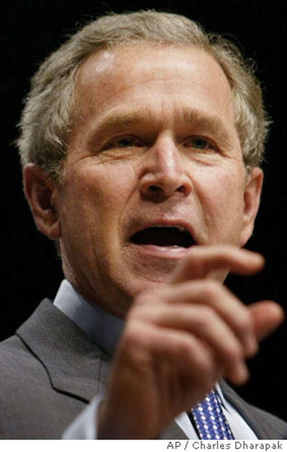 President Bush makes remarks on the one-year anniversary of the U.S. Department of Homeland Security Tuesday, March 2, 2004 in Washington. (AP Photo/Charles Dharapak) Photo: CHARLES DHARAPAK