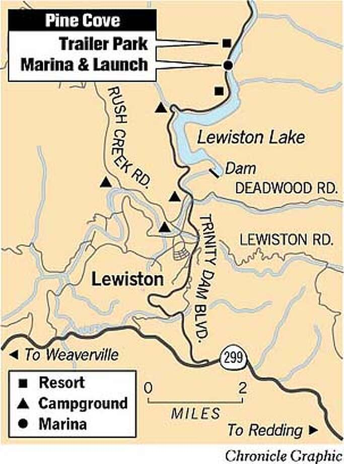 Lewiston Lake. Chronicle Graphic