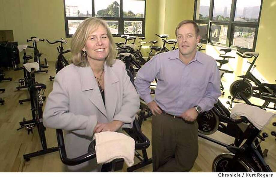 John and Jill Kinney the owners of clubone.  Club One Ftiness chain opening its new center at Santana  Row in San Jose .the owners John and Jill Kinney . Event on 1/7/04 in San Jose. KURT ROGERS / The Chronicle Photo: KURT ROGERS