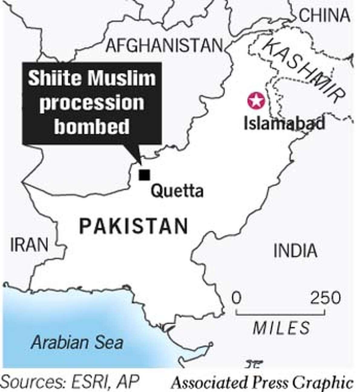Pakistan. Associated Press Graphic