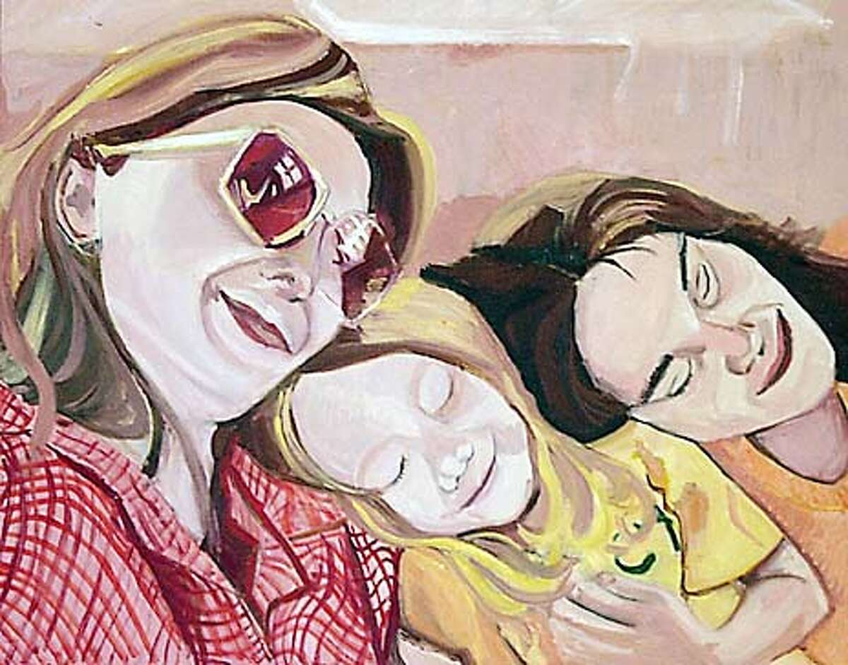 Artist Heidi Hardin paintings of Bay Area families opens at SOMarts Gallery on Jan 8 this show features Her paintings of two Jewish and two Mulsim families ,portraits she did from family photo albums. Event on 12/18/03 in San Francisco. KURT ROGERS / The Chronicle