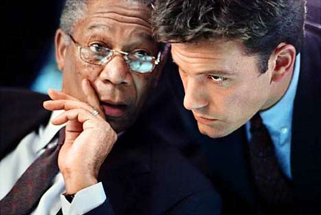 "(Left to right) Morgan Freeman as DCI William Cabot and Ben Affleck as Jack Ryan in ""The Sum of All Fears."" Paramount Pictures presents a Mace Neufeld Production, ""The Sum of All Fears,"" directed by Phil Alden Robinson and produced by Mace Neufeld. (HANDOUT PHOTO) Photo: HANDOUT"