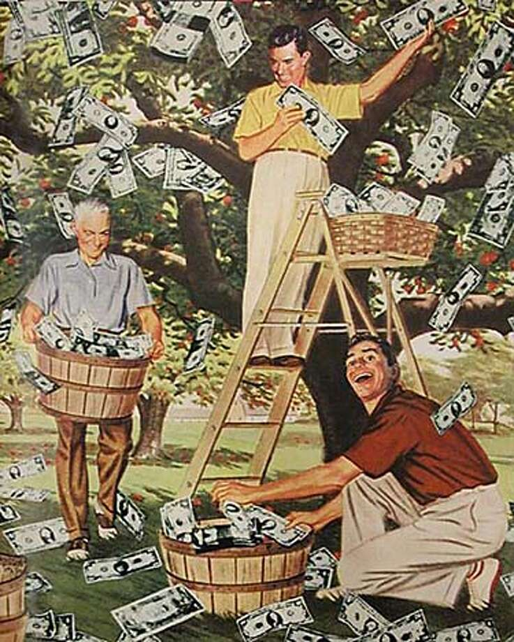 / for: Sunday Datebook The Money Tree, a New Yorker cover by Winston Smith