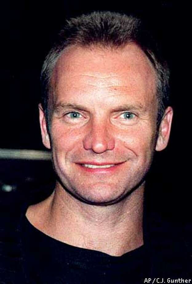 Sting, shown in this May 14, 1994 photo, was stung himself to the tune of $9.3 million by his trusted accountant, prosecutors said Wednesday, Sept. 20, 1995. Keith Moore, who handled Sting's money from 1977 through mid-1992, went on trial on charges of embezzling the lead singer of the Police to finance a series of speculative ventures that went wrong. (AP Photo/C.J. Gunther)  BY ASSOCIATED PRESS