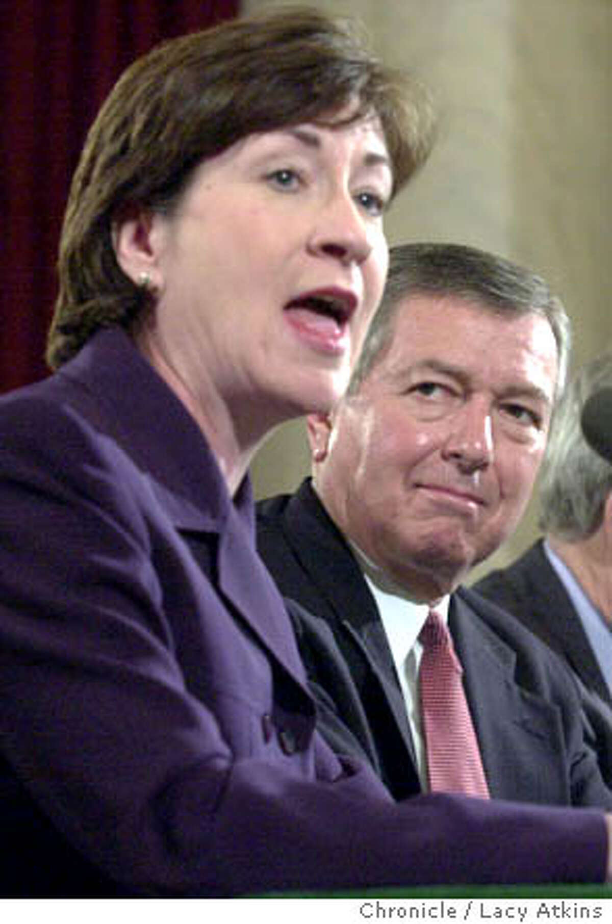 HEARING2-C-17JAN01-MN-LA - Senator Susan Collins, of Maine testifies for John Ashcroft, in the second day of the confirmation hearings for Attorney General, in the Russell Building, on Capital Hill. Photo By Lacy Atkins/San Francisco Chronicle