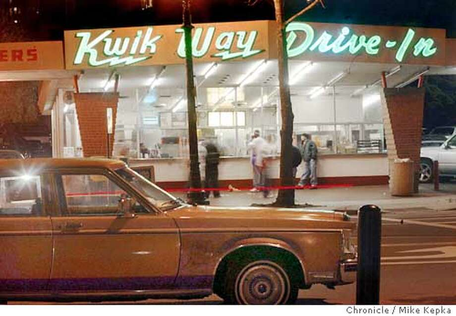 This is an exterior shot of The Kwik Way Drive-In in Oakland. 2/20/04 in Oakland. Mike Kepka / The Chronicle Photo: Mike Kepka