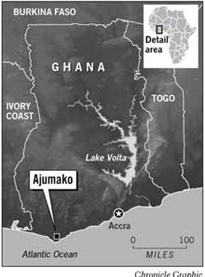 Ajumako, Ghana. Chronicle Graphic