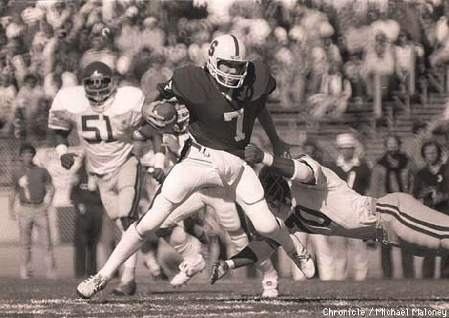 John Elway, Stanford in game against USC. CHRONICLE PHOTO BY MICHAEL MALONEY