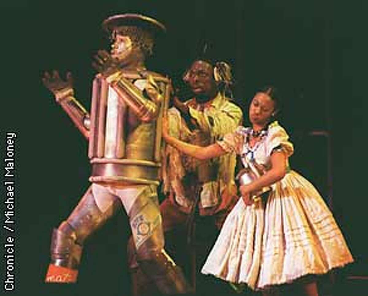 From left Tony Terry as the Tinman, Kameko Hebron as the Scarecrow, and Tasha Scott as Dorothy performed inThe Wiz at the Paramount Theater in Oakland. BY MICHAEL MALONEY/THE CHRONICLE