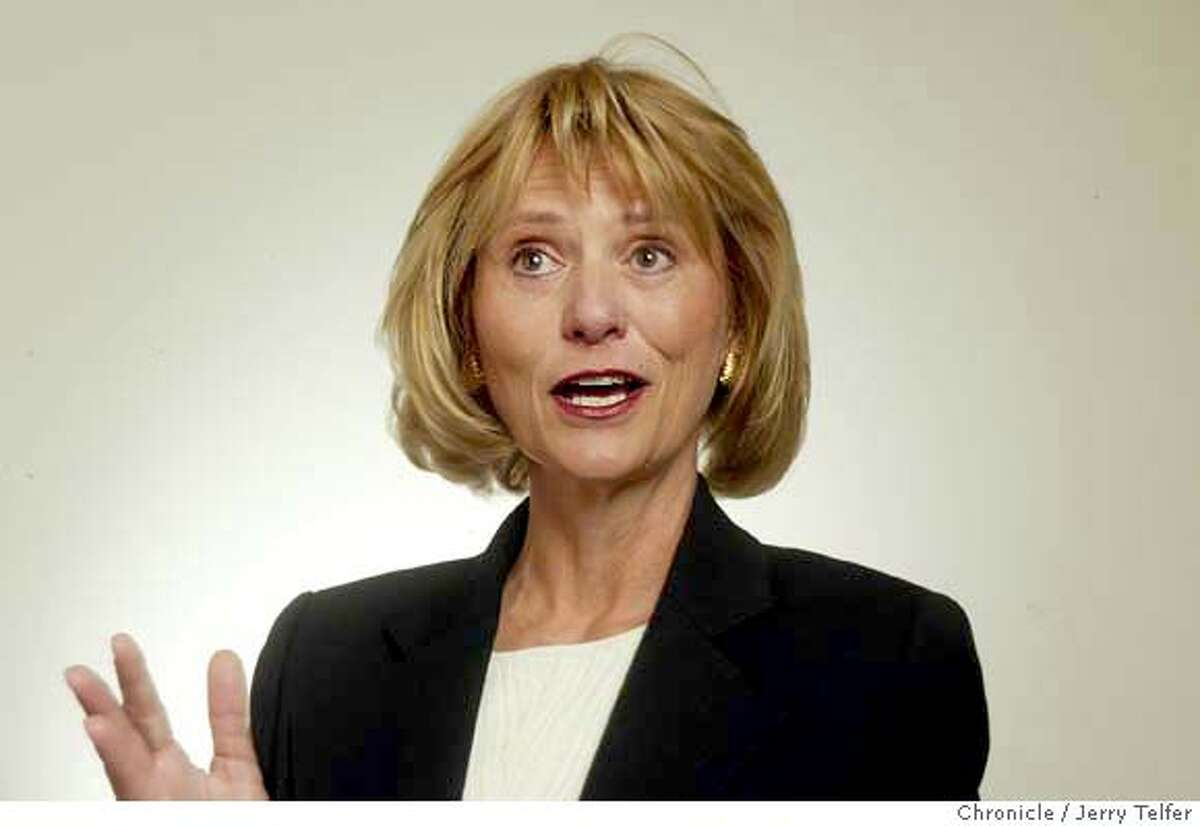 Carol Bartz, CEO of Autodesk. Event on 1/22/04 in San Francisco. JERRY TELFER / The Chronicle MANDATORY CREDIT FOR PHOTOG AND SF CHRONICLE/ -MAGS OUT