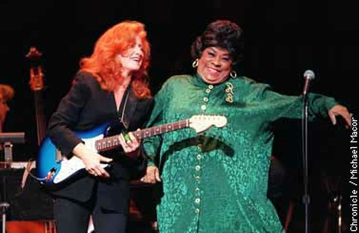 Oakland's Paramount Theater plays host to Charles Brown 75th birthday Bash. San Francisco Jazz Festival. Bonnie Raitt and Ruth Brown join the celebration to honor Brown. Chronicle Photo: Michael Macor