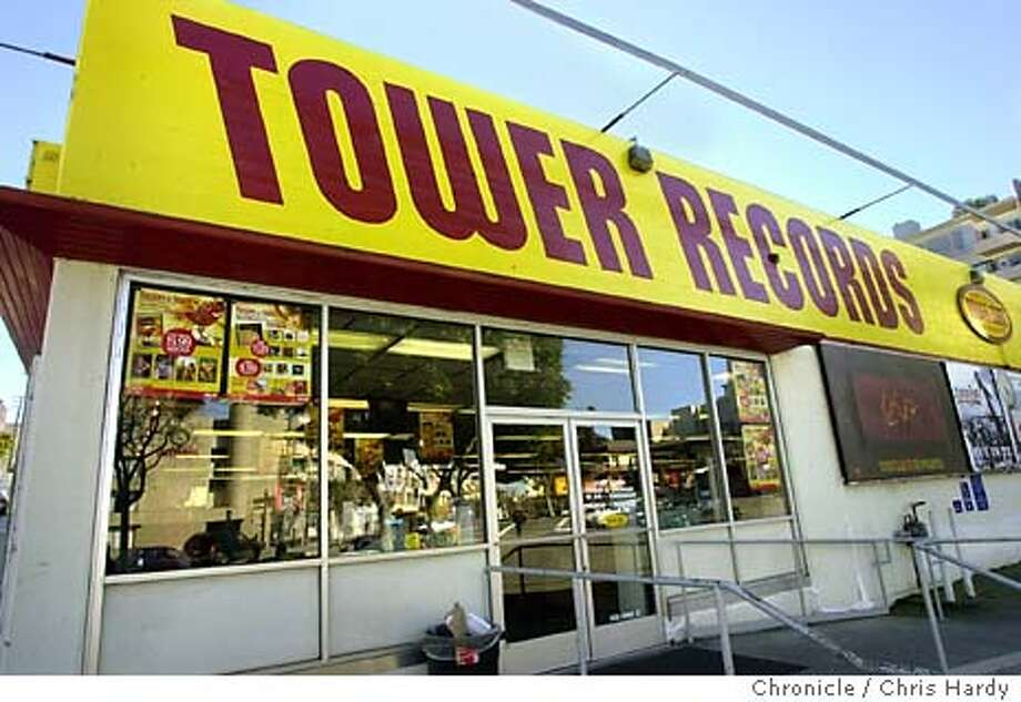 Tower Records, this one a Columbus and Bay, filed for bankruptcy because store sales have been hurt by the rush to get music online.  CHRIS HARDY/The Chronicle Photo: CHRIS HARDY
