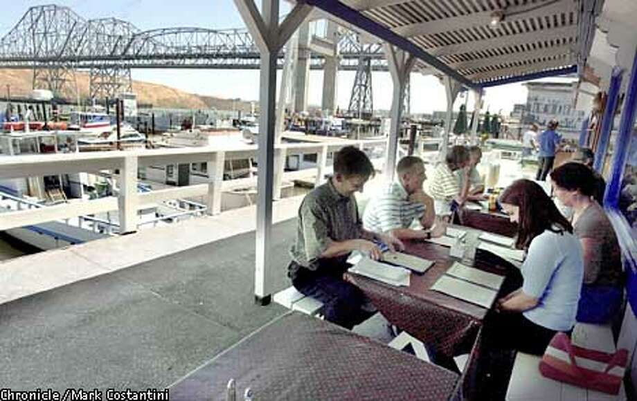 THE DECK AND VIEW AT THE NANTCUKET RESTAURANT IN CROCKETT. PHOTO: MARK COSTANTINI/S.F. CHRONICLE Photo: MARK COSTANTINI