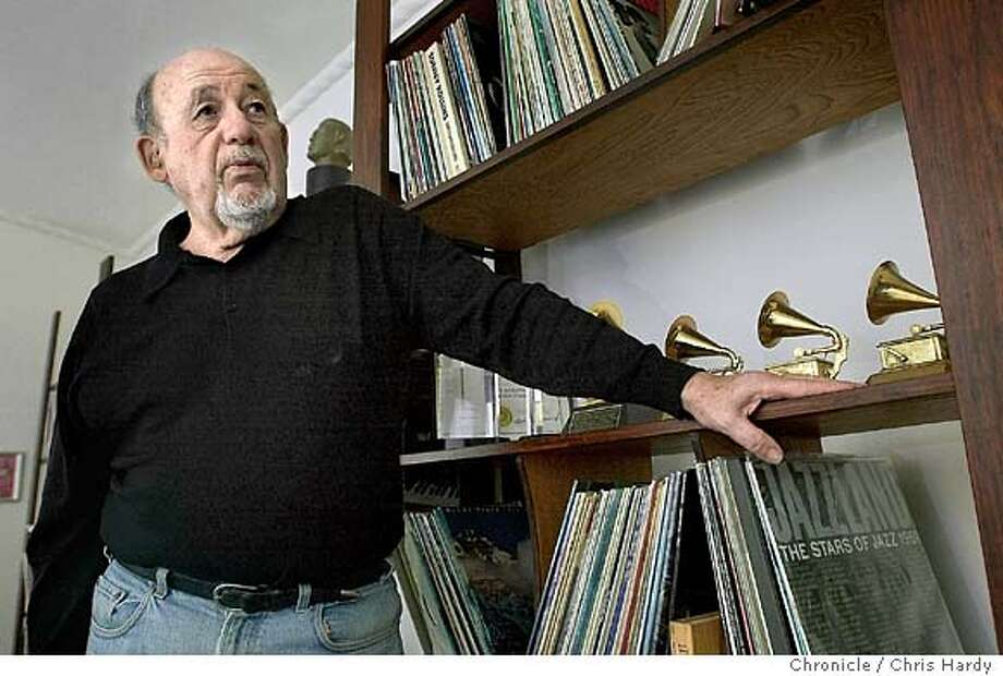 Orrin Keepnews is a legendary jazz record producer who's receiving a lifetime achievement Grammy award next week. CHRIS HARDY/The Chronicle Photo: CHRIS HARDY