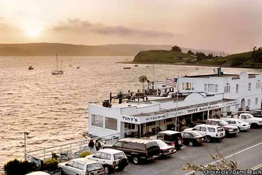 Tony's Seafood, just south of Marshall, is one of two fishshacks hugging the Pacific. Chronicle photo by Darryl Bush