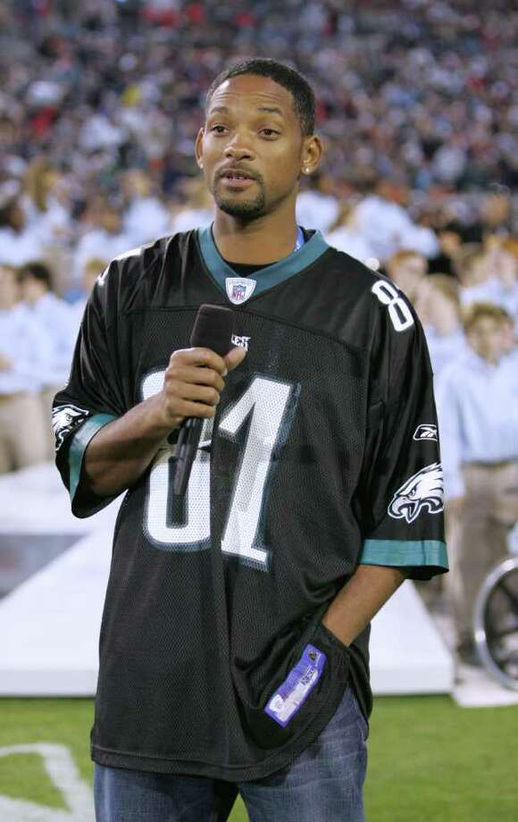 Will Smith (40): The Fresh Prince, and big Eagles fan, introduced his favorite team on video in 2005. Photo: Frank Micelotta, Getty Images / 2005 Getty Images