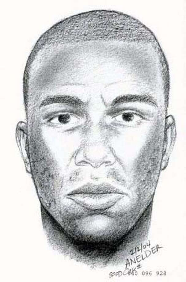San Francisco police today released a sketch of a man who raped a young South Bay woman last month after she was left behind by a bus that made a rest stop near Candlestick Park