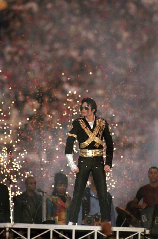 Michael Jackson (41): In 1993, The King of Pop made the halftime show the must-see event it is today.  Photo: George Rose, Getty Images / 1993 Getty Images