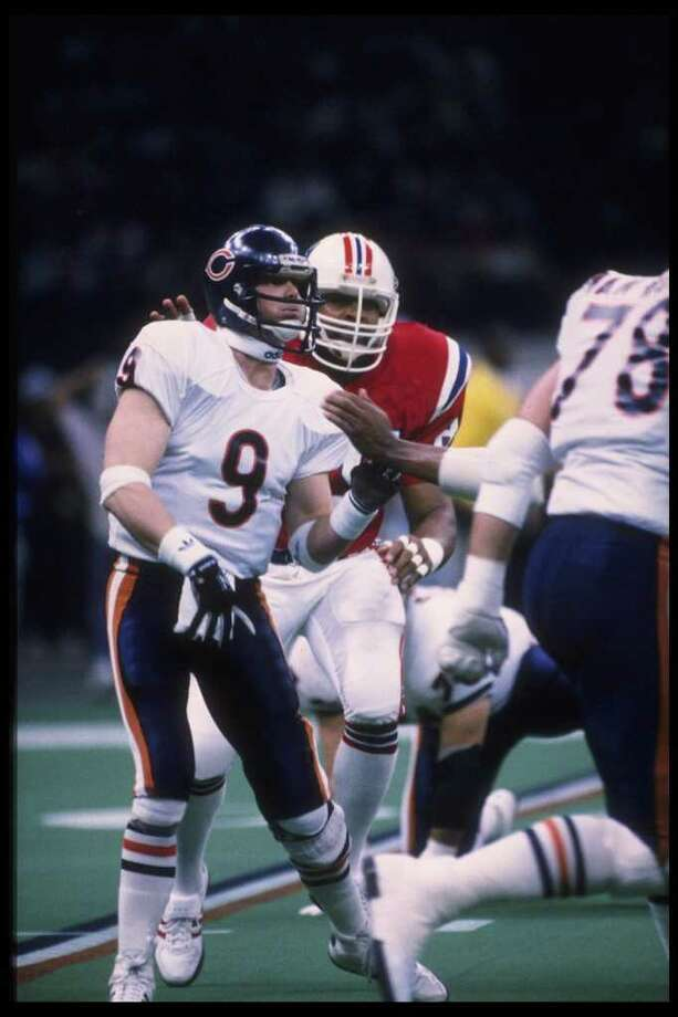 Jim McMahon (10): A TV helicopter saw a different moon that day, courtesy of this cocky Bears QB.  Photo: Getty Images / Getty Images North America