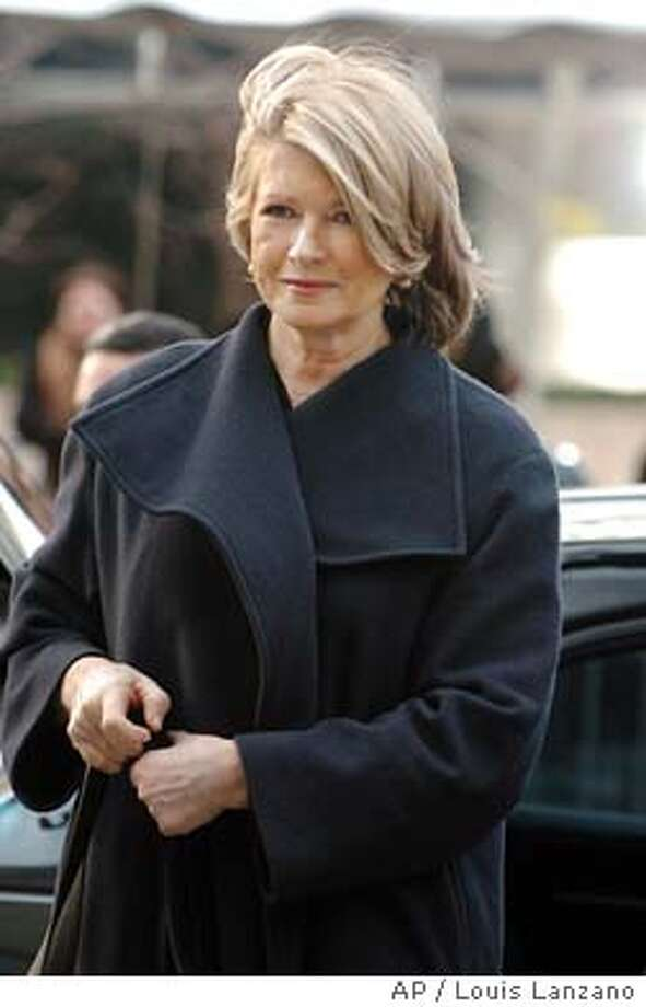Martha Stewart enters Manhattan federal court, Wednesday, Feb. 4, 2004, in New York. Prosecution witness Douglas Faneuil, the former assistant to Martha's broker Peter Bacanovic, will testify for the second day in the ImClone stock sale scandal. (AP Photo/ Louis Lanzano) Martha Stewart Photo: LOUIS LANZANO