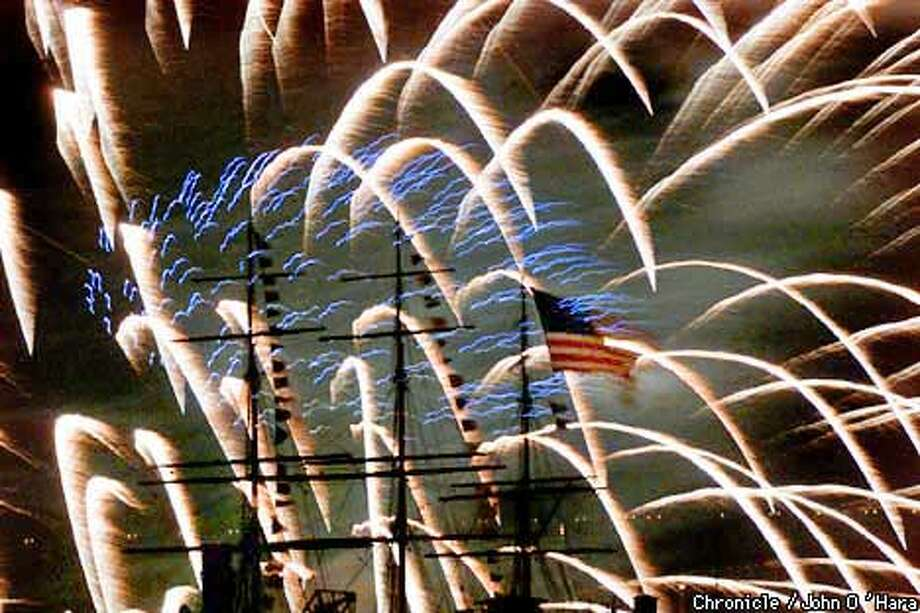The San Francisco Fourth of July Waterfront Celebration, will end with the annual fireworks display over the bay. Chronicle photo, 2001, by John O'Hara