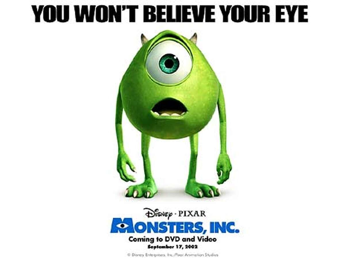 """THIS IS A HANDOUT IMAGE. PLEASE VERIFY RIGHTS. SLUG-C-DDMMMYY-XX-HO --- Mike from Pixar's """"Monsters, Inc."""" � Disney Enterprises, Inc./Pixar Animation Studios. All Rights Reserved. (HANDOUT PHOTO) CAT"""