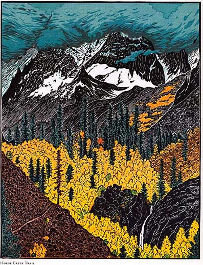"Horse Creek Trail. From ""The High Sierra of California''"