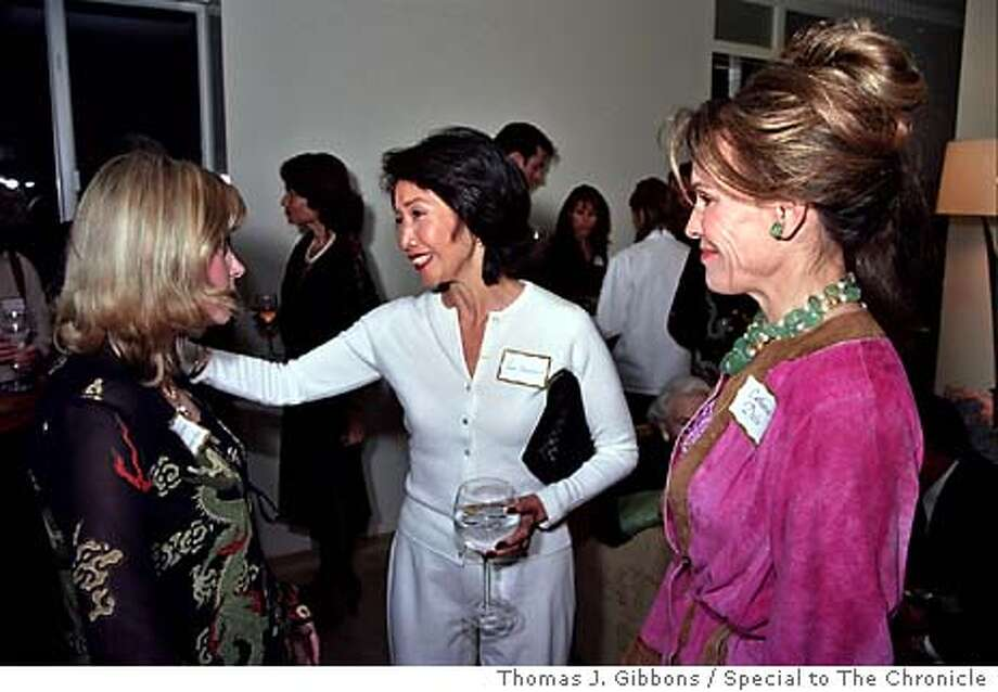 "SOCIAL04  (L to R) Catherine Dennes Akay, Jan Yanehiro and Catherine Debs at a party for ""Everyday Angels and a benefit for multiple sclerosis."