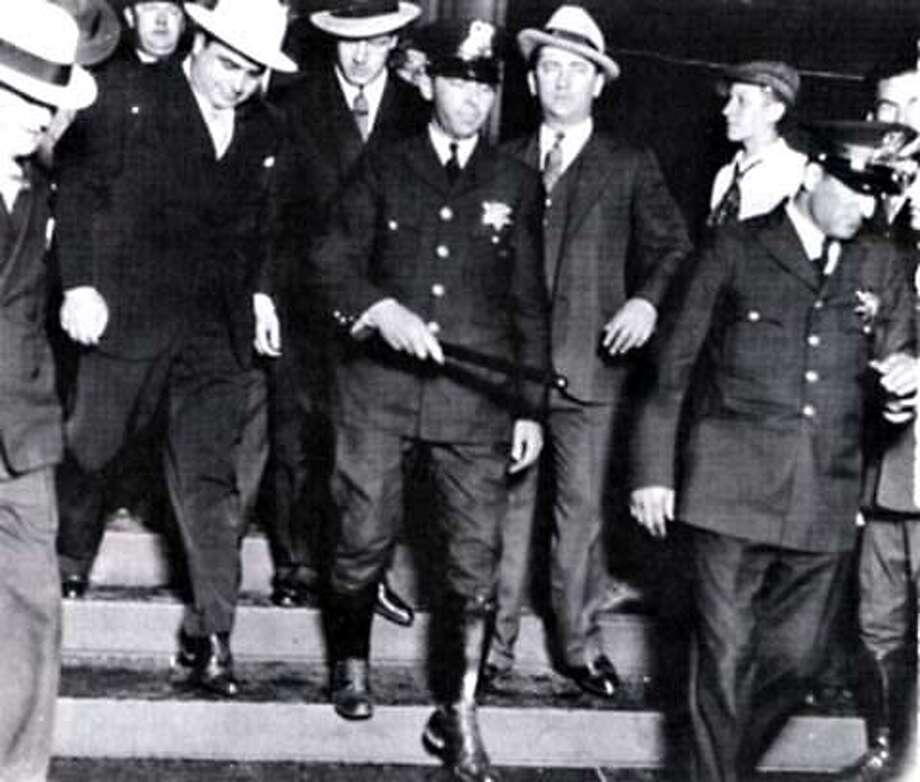 Al Capone on his way to prison 1931.