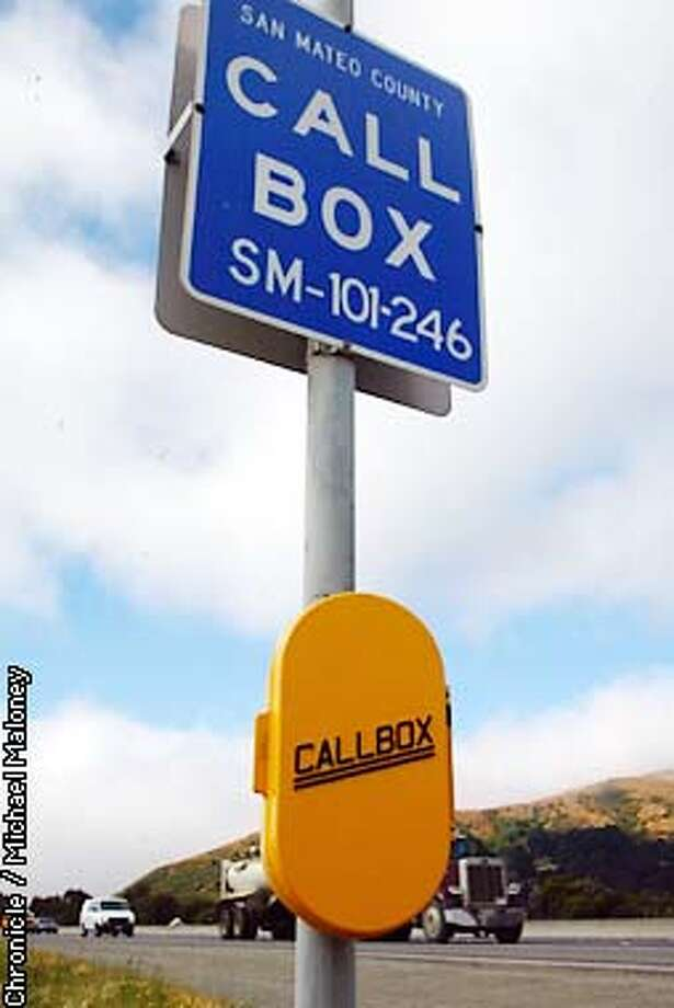 Roadside emergency callboxes such as this one on 101 in South SF may be removed since they are rarely used due to the popularity of cell phones.  CHRONICLE PHOTO BY MICHAEL MALONEY Photo: MICHAEL MALONEY