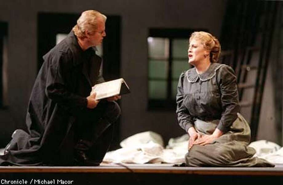 """San Francisco Opera Company presents """" DER FLIEGENDE HOLLANDER"""" Gosta Winbergh as ERIK and Jeanne-Michele Charbonnet plays SENTA. A scene from Part II. Chronicle Photo: Micahel Macor Photo: MICHAEL MACOR"""