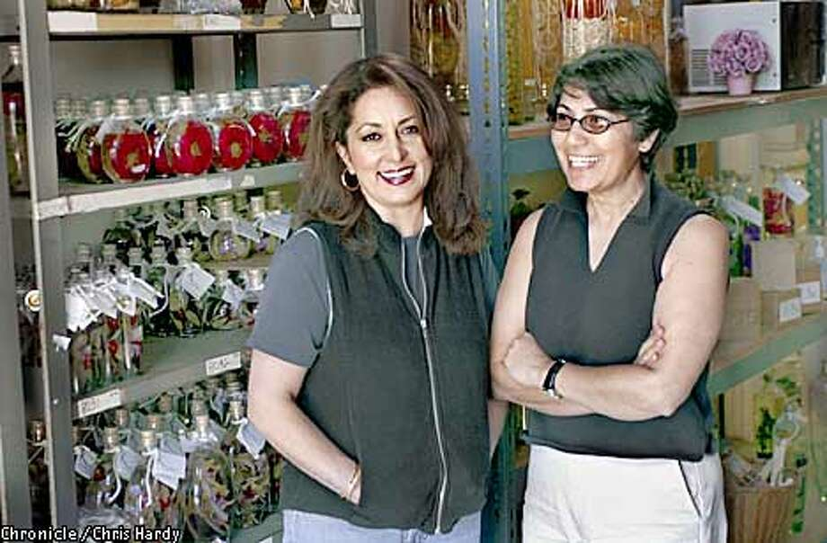 SUDI AND SIMMIN TALEGHANI, WHO OWN II SISTERS COMPANY, THEY MAKE OILS AND LAMPS IN FANCY BOTTLES -----CHRONICLE PHOTO BY CHRIS HARDY Photo: Chris Hardy