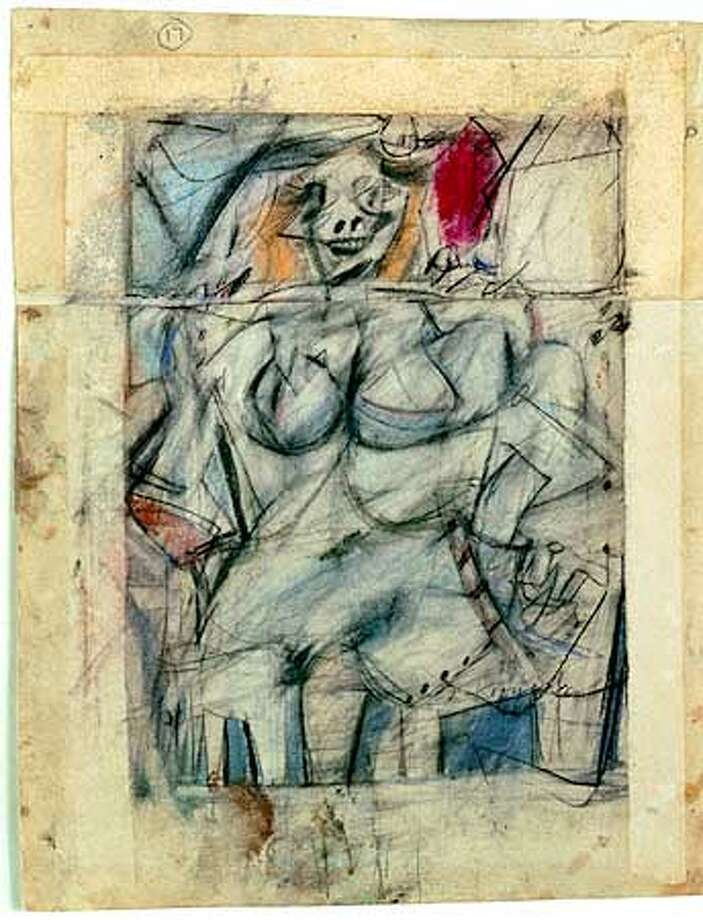 "Willem de Kooning, ""Seated Woman,"" 1952; Collection MOMA, New York, The Lauder Foundation Fund Photo: HO"