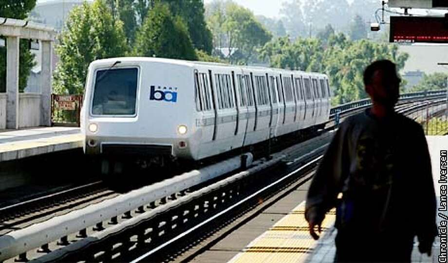 In this file photo, a BART train enters the El Cerrito station. Photo: LANCE IVERSEN