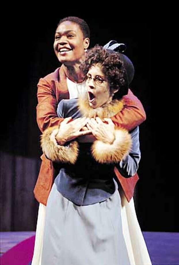 Rosalind (Deidrie Henry) and Celia (Vilma Silva) in AS YOU LIKE IT at the Oregon Shakespeare Festival. Photo byJennifer Reiley.  (HANDOUT PHOTO) Photo: HANDOUT