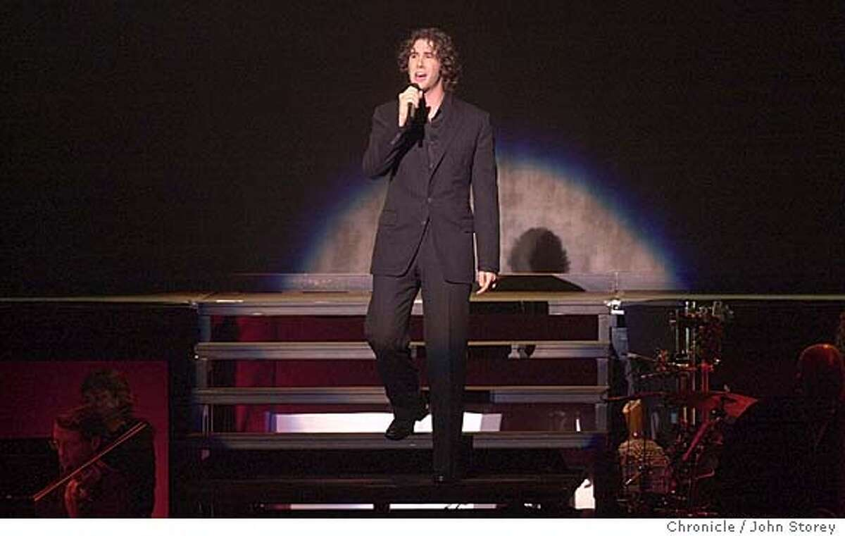 Singer Josh Groban performing at the Paramount Theater. John Storey/The Chronicle
