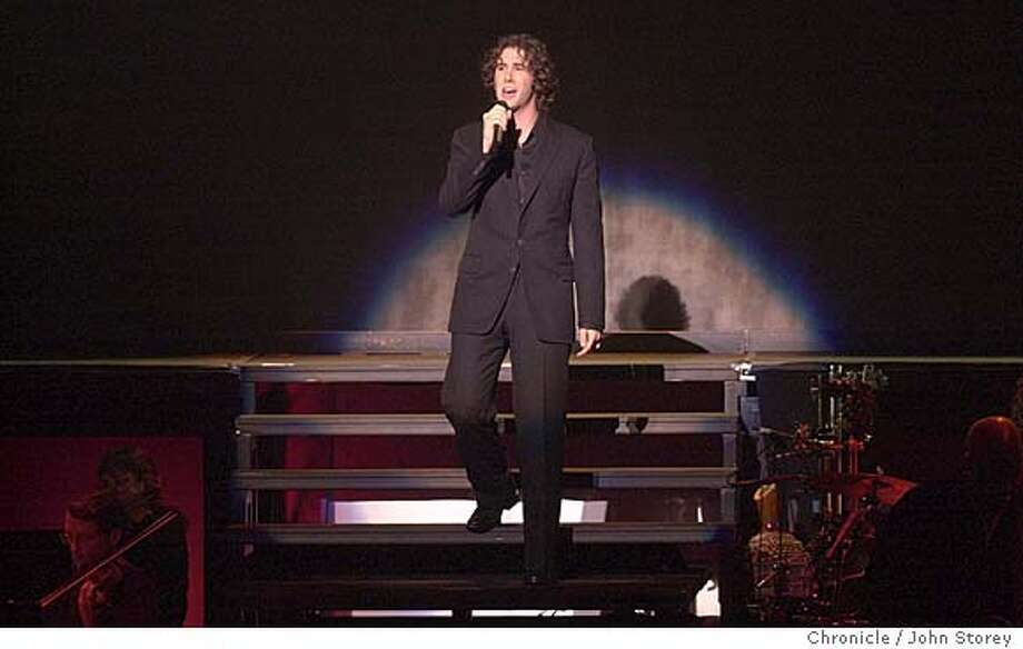 Singer Josh Groban performing at the Paramount Theater. John Storey/The Chronicle Photo: John Storey