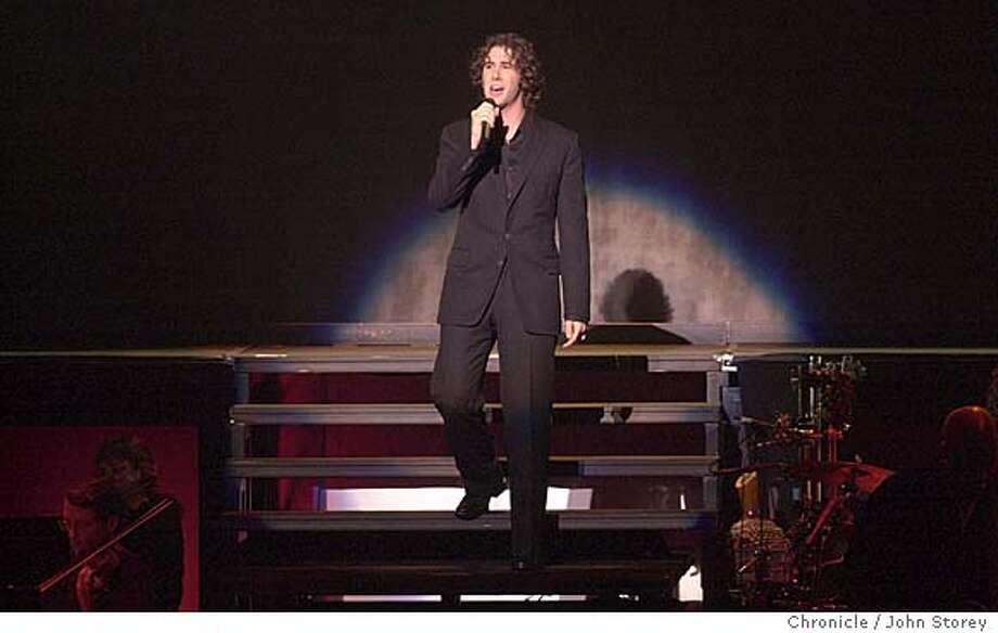 Singer Josh Groban performing at the Paramount Theater. John Storey/The Chronicle Photo: John Storey