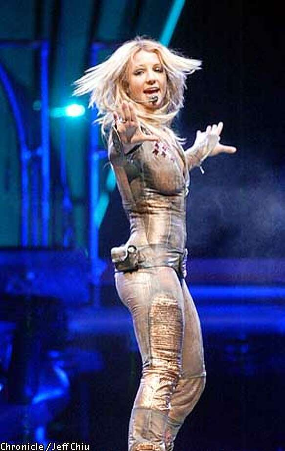 Britney Spears performs in Oakland on Saturday night. Photo by Jeff Chiu/The Chronicle Photo: Jeff Chiu