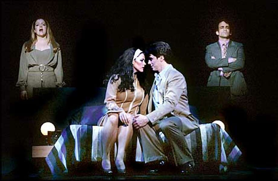 "Kim Director and John Barrowman in Stephen Sondheim's ""Company'' at the Kennedy Center."