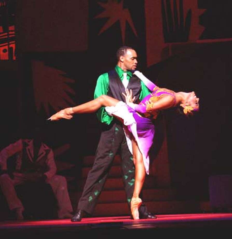 Donald Williams and Caroline Rocher perform in Michael Smuin�s St. Louis Woman: A Blues Ballet, part of Dance Theatre of Harlem�s Cal Performances engagement at Zellerbach hall January 28 - February 1, 2004. / handout